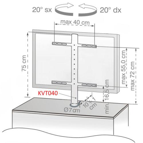 Disegno Tecnico Supporto KVT 040