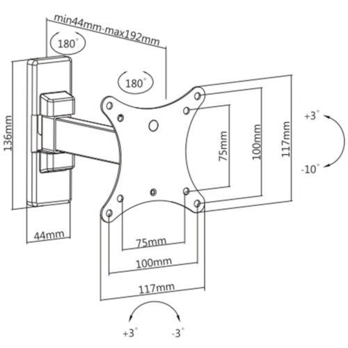 Disegno Tecnico Supporto SK 111