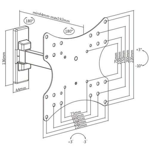 Disegno Tecnico Supporto SK 121