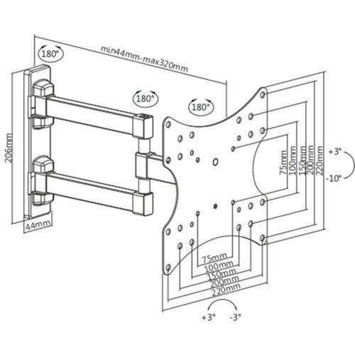 Disegno Tecnico Supporto SK 122